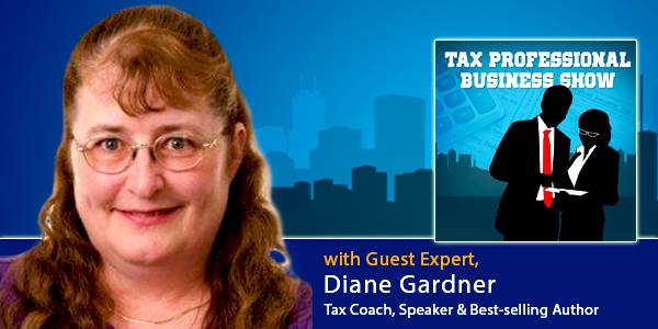 Diane Gardner 600x300- Tax Professional Business Show with Derek