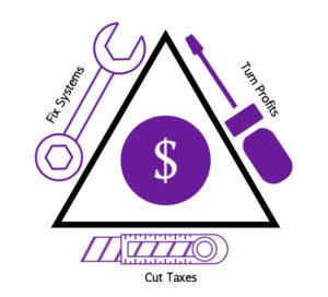 Fix Systems, Turn Profits, Cut Taxes