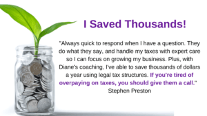 testimonial for tax savings