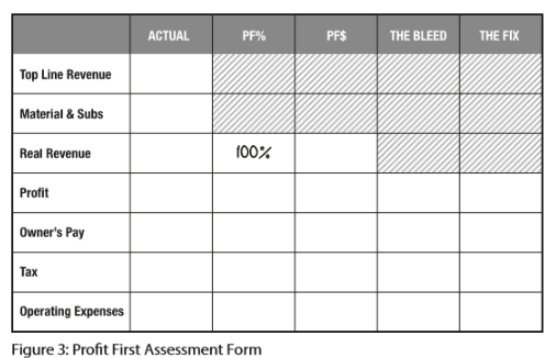 Profit First Assessment Form